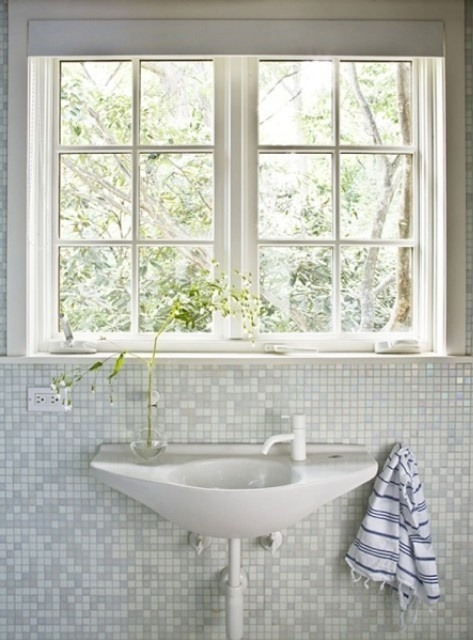 Pool House bathroom, Westchester County, NY, From the Desk of Lola | Remodelista Architect / Designer Directory