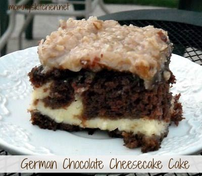 Mommy's Kitchen - Old Fashion Country Style German Chocolate Cheese cake