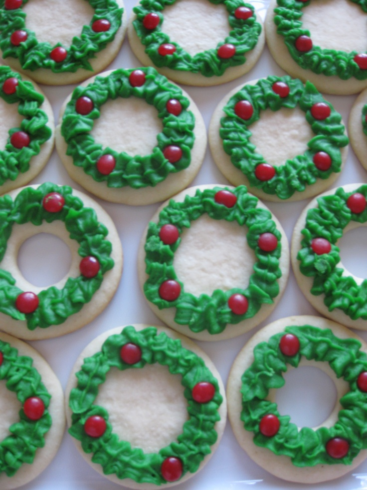 Christmas Wreath Cookies by me.  Can you tell I like Cinnamon Imperials?
