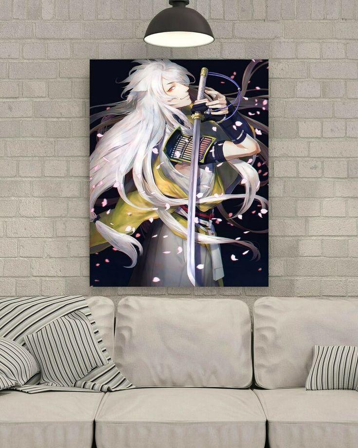 3D Petal Man White Hair 983 Japan Anime Wall Stickers Wall