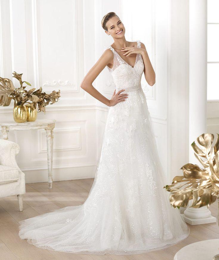 Pronovias vous présente la robe de mariée Laurete. Glamour 2014. | Pronovias