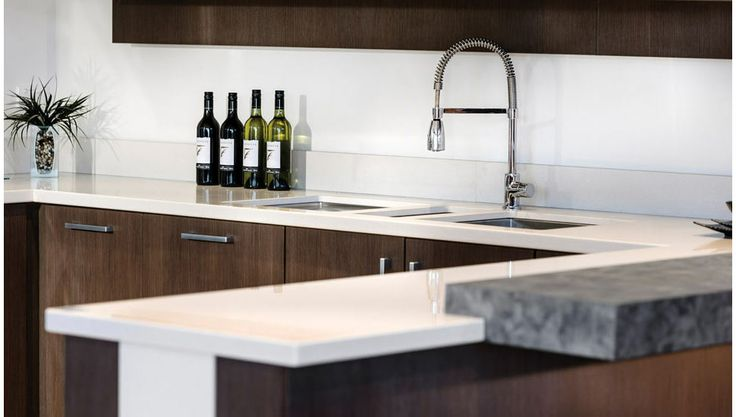 Sleek lines and exciting textures in our Designer range of kitchens.