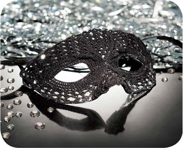 Receita Máscara de Carnaval em Crochê