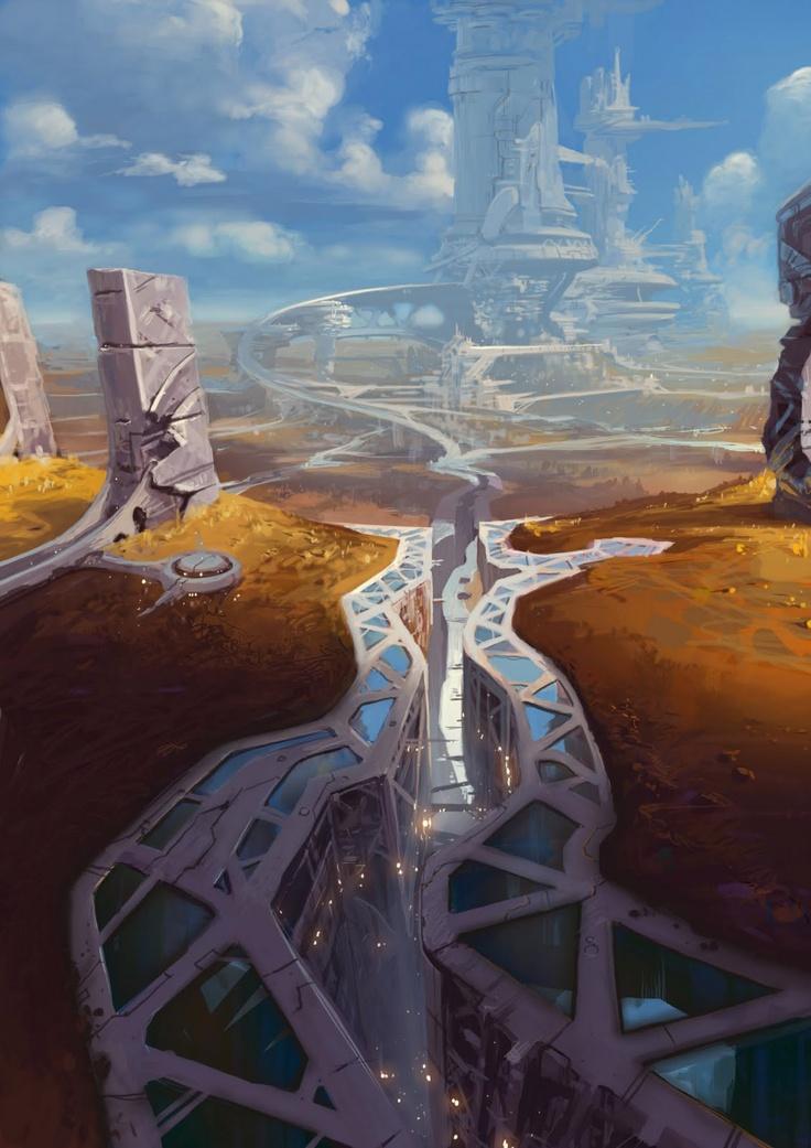 Ville du futur? sur notre planète Terre ou Orbite