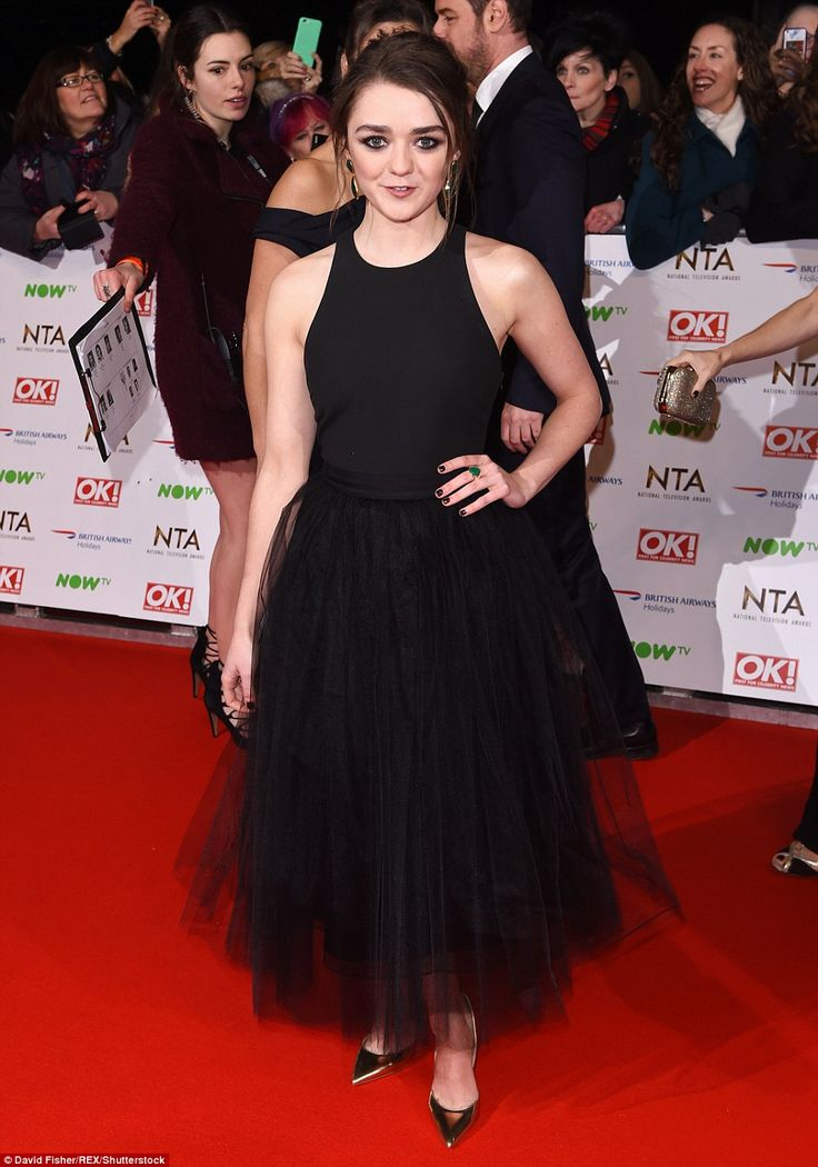 Looking cute: Doctor Who actress Maisie Williams was looking adorable in a full-skirted nu...