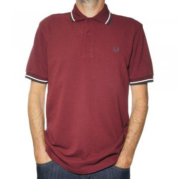 Fred Perry Twin Tipped Men's Polo Shirt in Port