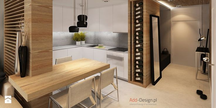 Apartamentowiec w górach, w Szklarskiej Porębie - Średnia kuchnia, styl…