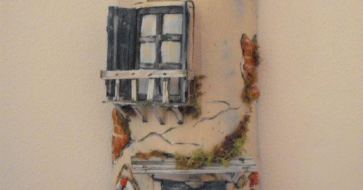 Da alcuni anni mi diverto a decorare le tegole e renderle piccole casette, allegre e sempre diverse l'una dall'altra!  Ecco qualche foto    ...