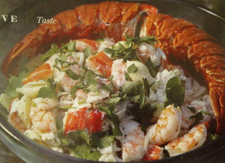 DIVINE SEAFOOD SALAD 16oz box of shell pasta 2cups of chopped lobster ...