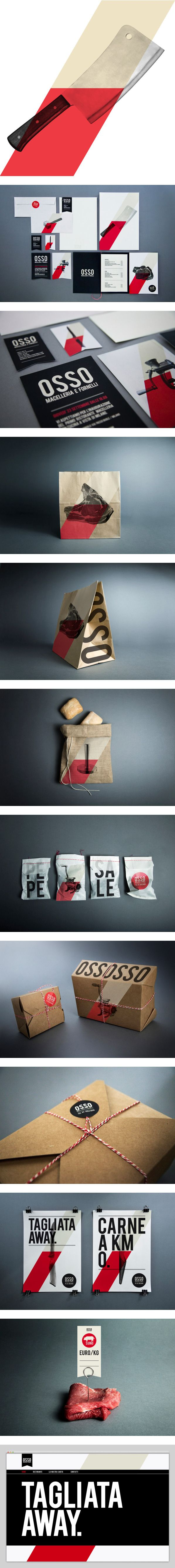 Time for lunch at Osso Macelleria & Fornelli by Luca Fontana #identity #packaging #branding PD
