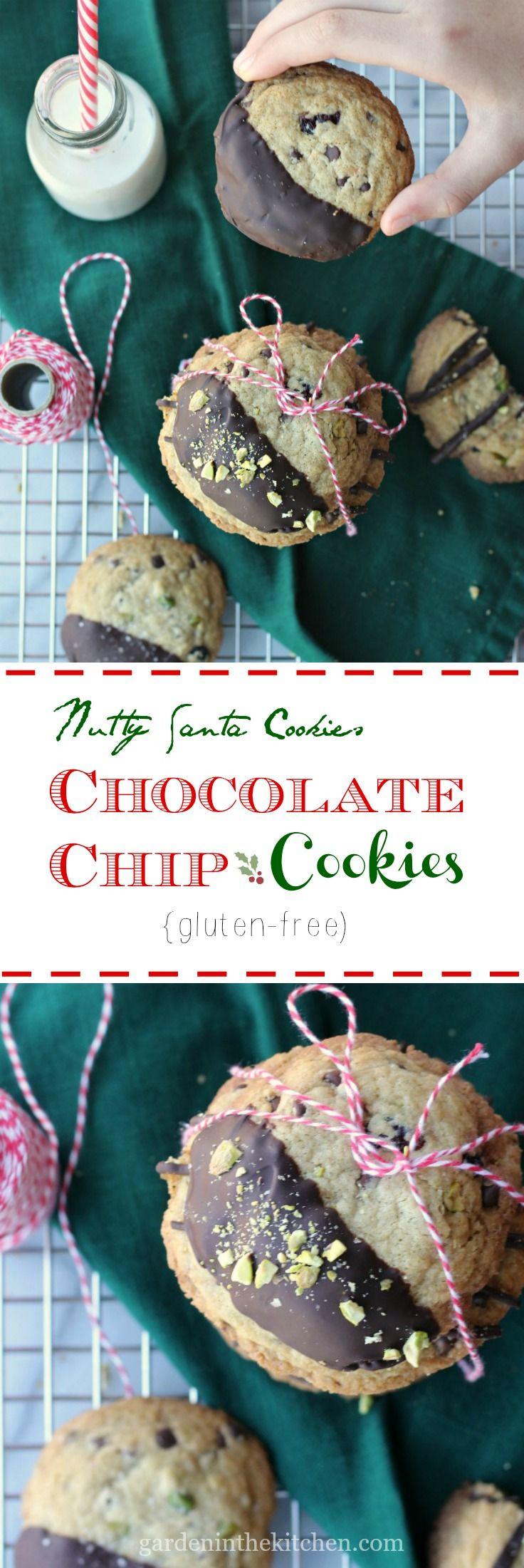 Nutty Chocolate Chip Cookies (Gluten-free) | @BobsRedMill #BobsHolidayCheer