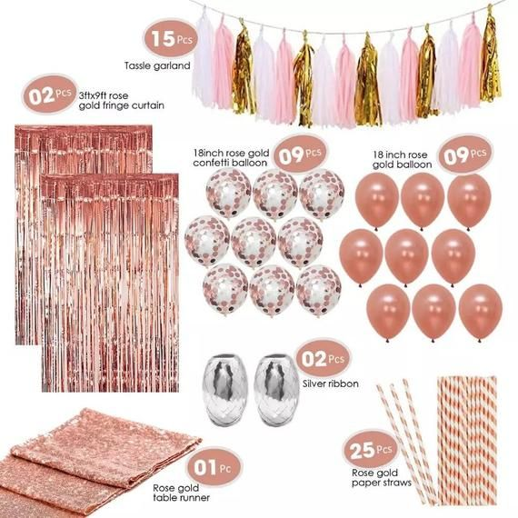 Rose Gold Party Decoration Set – Products