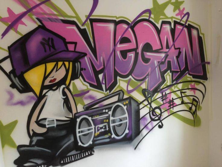 Graffiti name ellie bedroom ideas for Bedroom graffiti designs