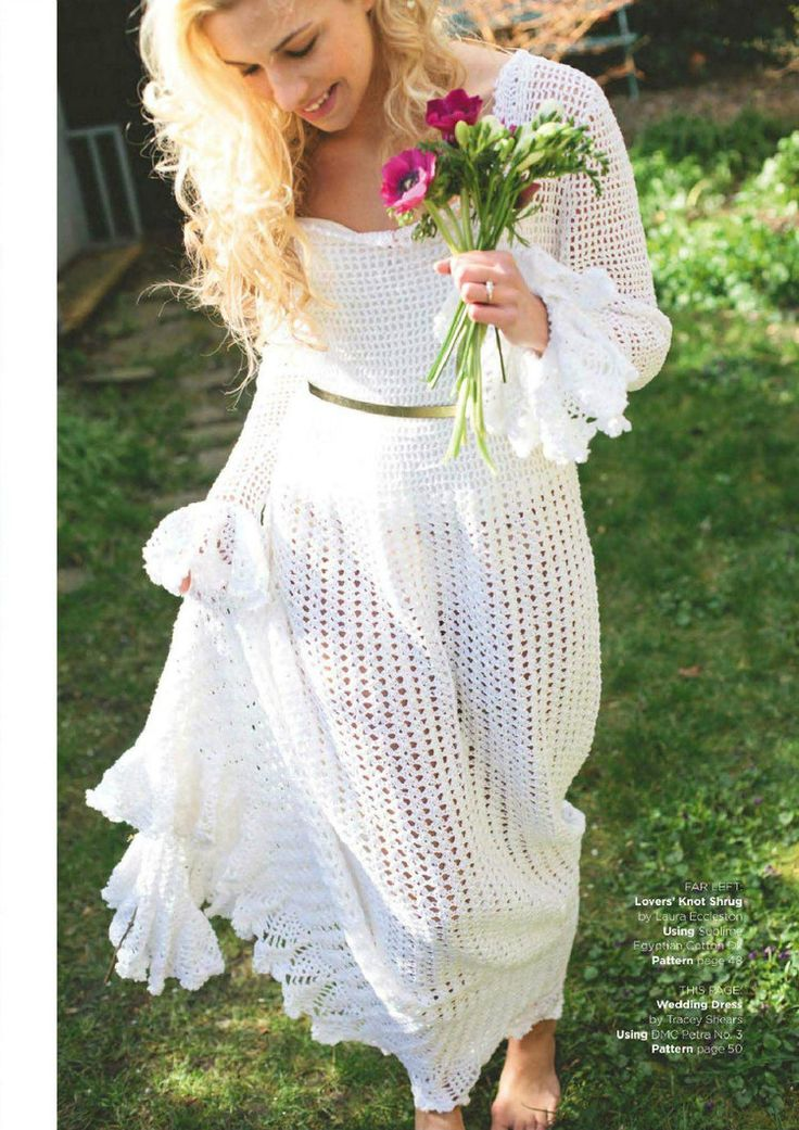 Retro Wedding Dress Crochet Pattern. via http://tsgtxkr.blog.163.com/blog/static/747834772015412103122625/ More Patterns Like This!