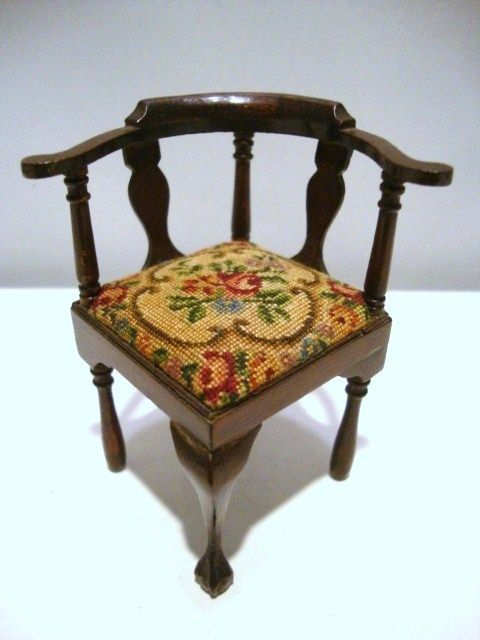 artisan chair with antique petit point