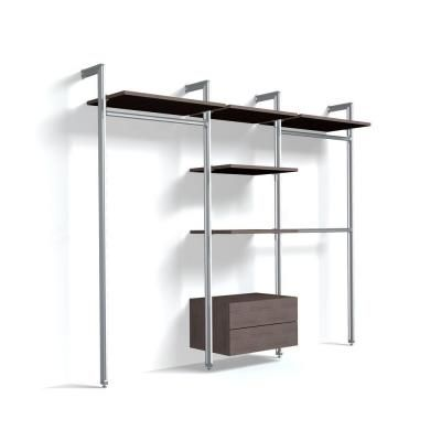 Space Pro Relax Closet Kit 6 With Long Hanging, Double Hanging, Tuxedo  Drawers And Shelves For Openings At 100 In. Space Pro Relax Storage  Solutions Are ...
