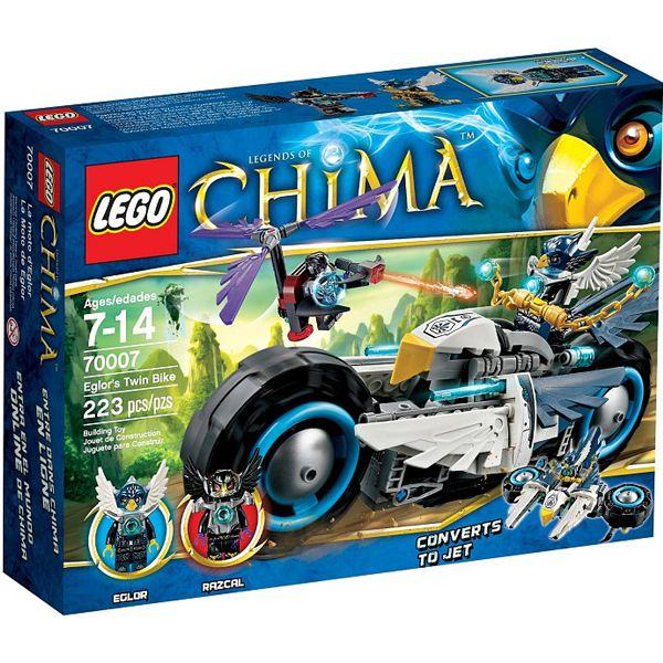 Bộ đồ chơi xếp hình Lego Chima 70007 mô hình mô Tô Chim Ưng Của Eglor
