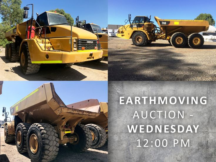 The Earthmoving Equipment Surplus Online Auction includes a number of these Caterpillar Dump Trucks as well as trucks, dozers, excavators and more
