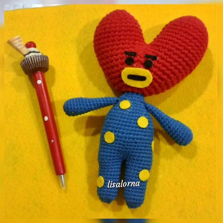 Amigurumi Tata (BT21) häkeln - Anleitung kostenlos | Crochet ... | 720x720