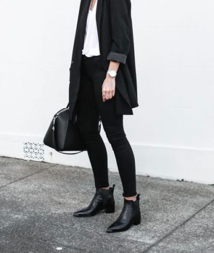 Design-style-ACNE-JENSEN-BOOTS-Leder-schwarz-38-39-elegant-chic-NEU-450-uro