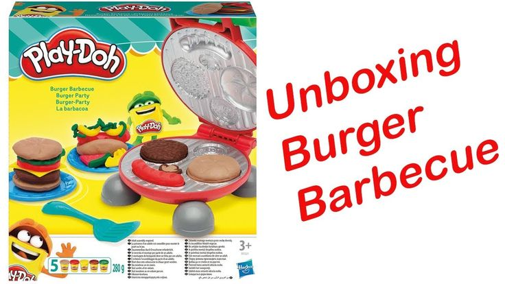Unboxing Play Doh Burger Barbecue Set