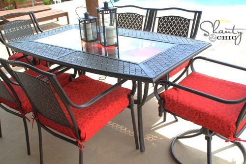 updated patio setSprays Painting, Painting Outdoor, Patios Furniture, Outdoor Furniture, Outdoors Patios, Patio Sets, Patios Sets, Sets Revamp, Diy Crafts Inspiration