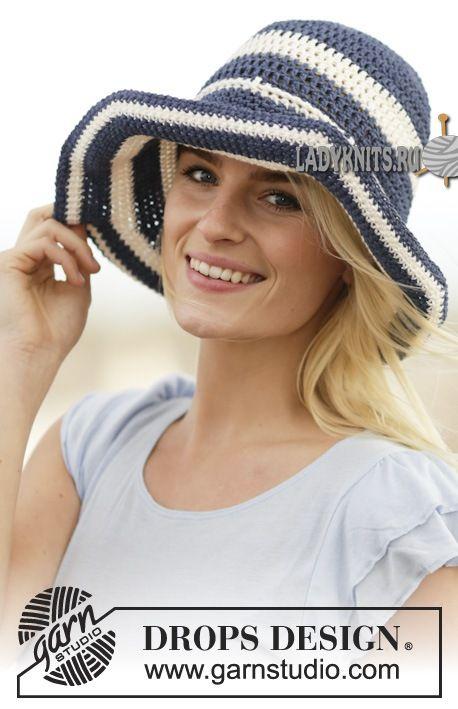 вязаная крючком пляжная шляпа
