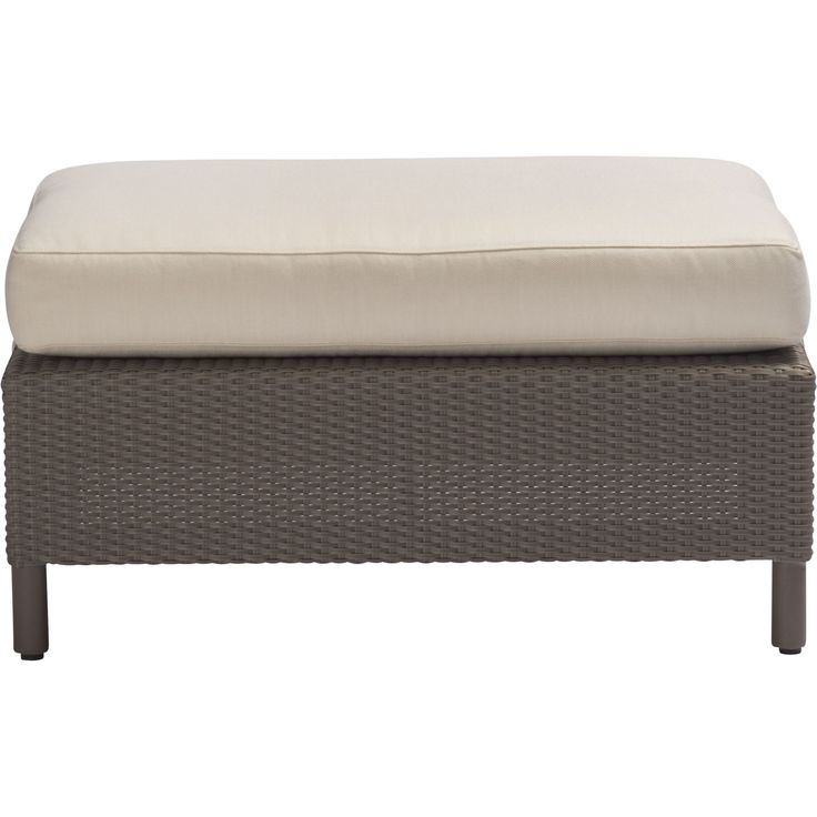 Buy Barbara Barry Outdoor Plateau Ottoman by McGuire Furniture - Quick Ship designer Furniture from Dering Hall's collection of Contemporary Transitional Stools, Ottomans & Poufs.