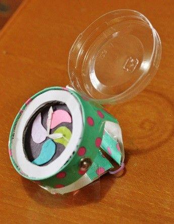 紙コップ腕時計♪ 幼児向け工作の参考