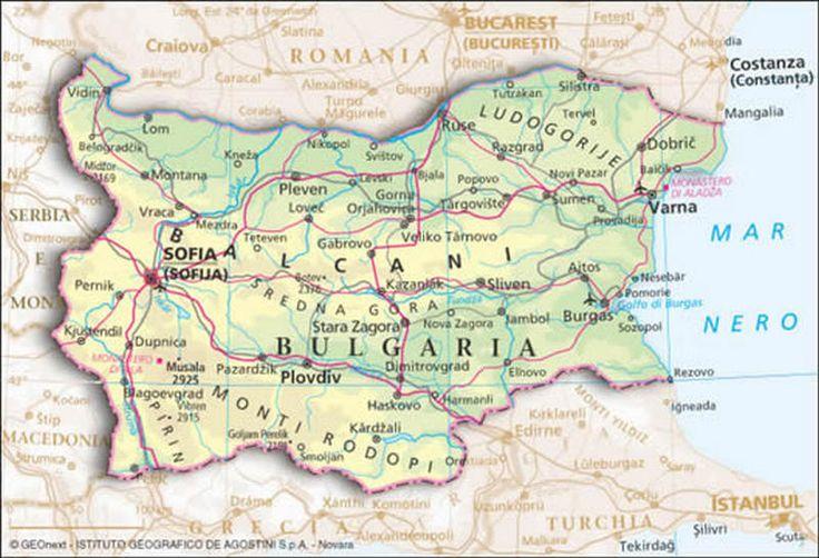 Cartina Geografica Fisica Della Romania.Cartina Geografica Della Bulgaria Mappa Carta Geografia Bulgaria Mappa