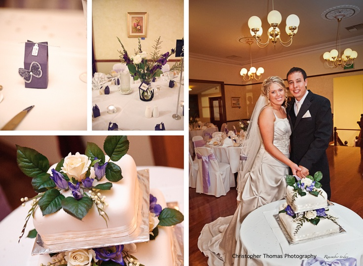 brisbane wedding photographer, old petrie town wedding, purple wedding theme