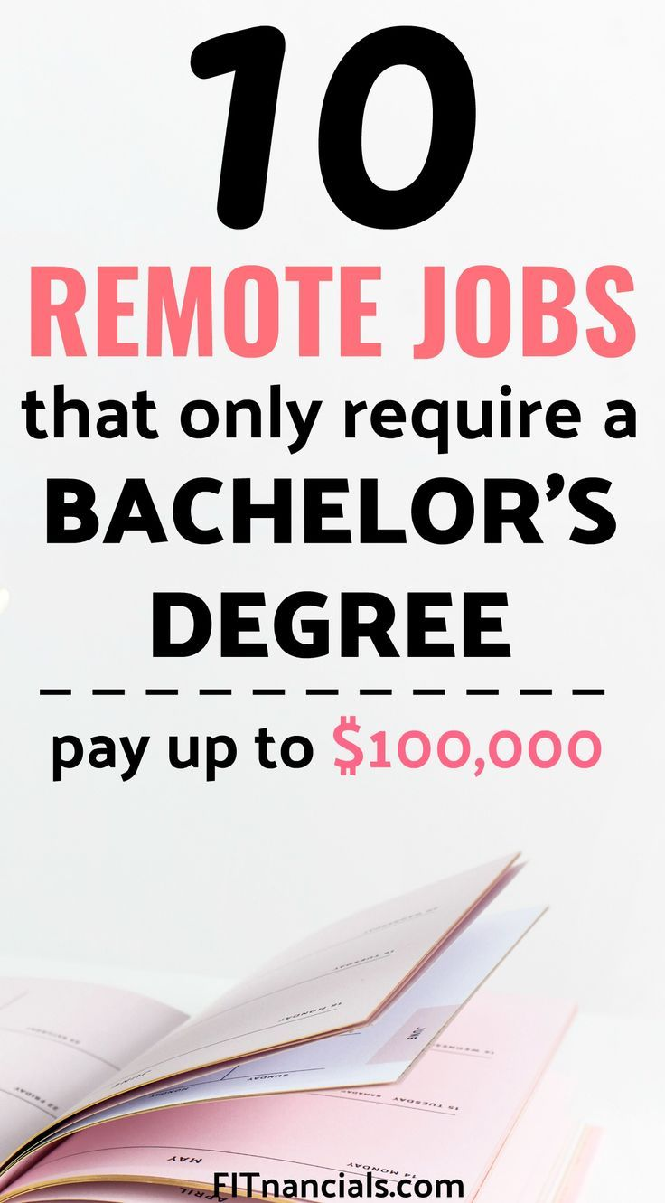 10 Remote Jobs That Only Require A Bachelor S Degree Remote Jobs