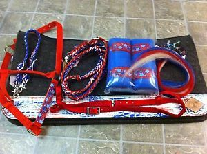 Snatch it up before someone else does!  Can't beat it - one of a kind Patriotic red, white, and blue tack set.