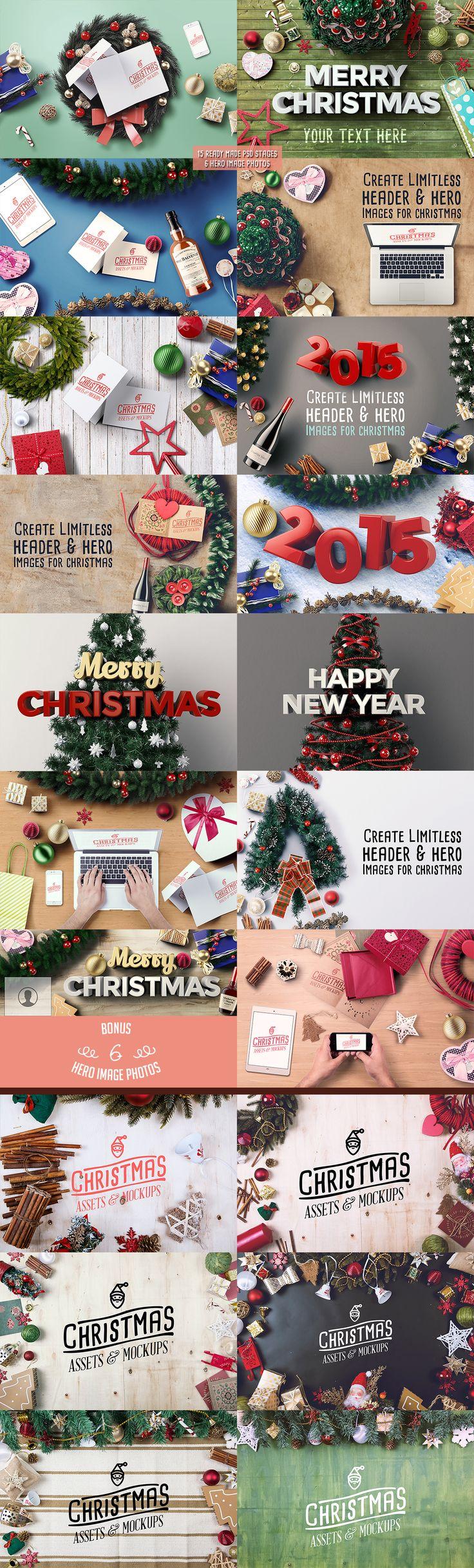 Christmas Assets & Mock Ups by Mockup Zone on Creative Market