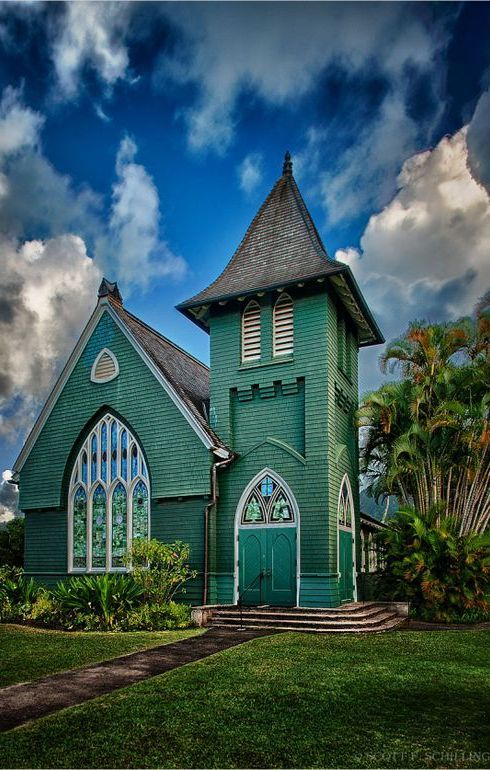 "The church!   After growing up visiting Hanalei for family vacations, I can't wait to make my dream a reality and get married in the ""little green church""!"