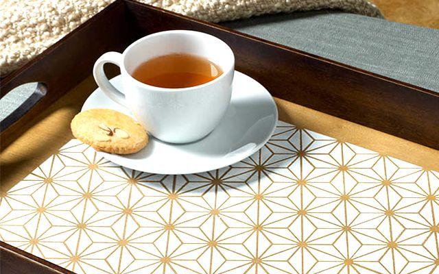 Fantastic geometric DIY tray