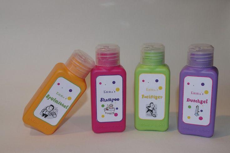 Kaufmannsladen & Küche - Shampoo, Duschgel &Co für Kaufladen/Puppenk... - ein Designerstück von TanteEmmasWerkstatt bei DaWanda