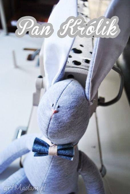 Pan królik elegancik zabawki peppofactory przytulanka chłopca