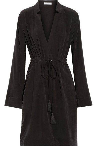 EQUIPMENT Stacy washed-silk wrap dress - AVAILABLE HERE: http://rstyle.me/n/cpsgcybcukx