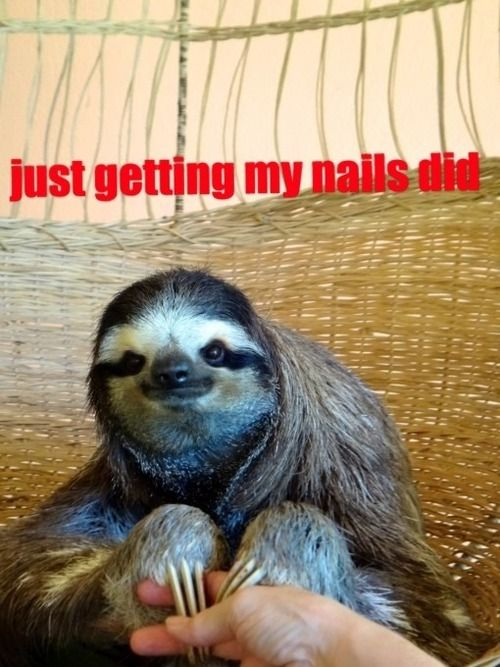 just getting my nails did