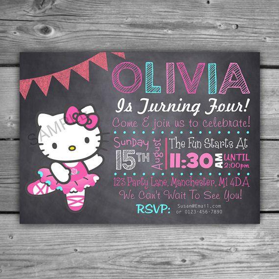 25 best ideas about Hello kitty birthday – Hello Kitty Birthday Party Ideas Invitations