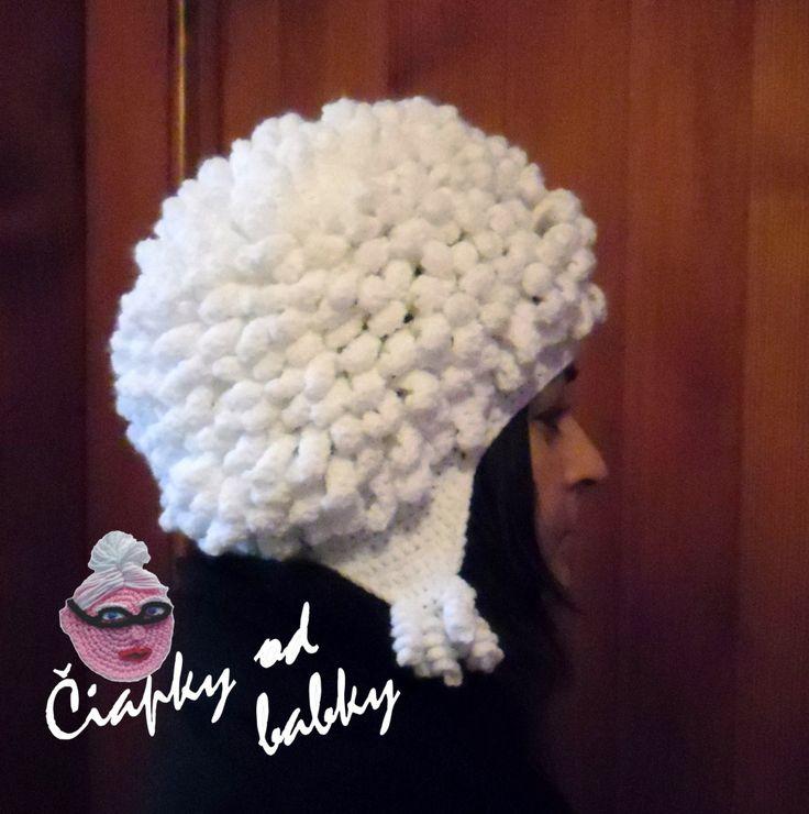 Crochet afro hat