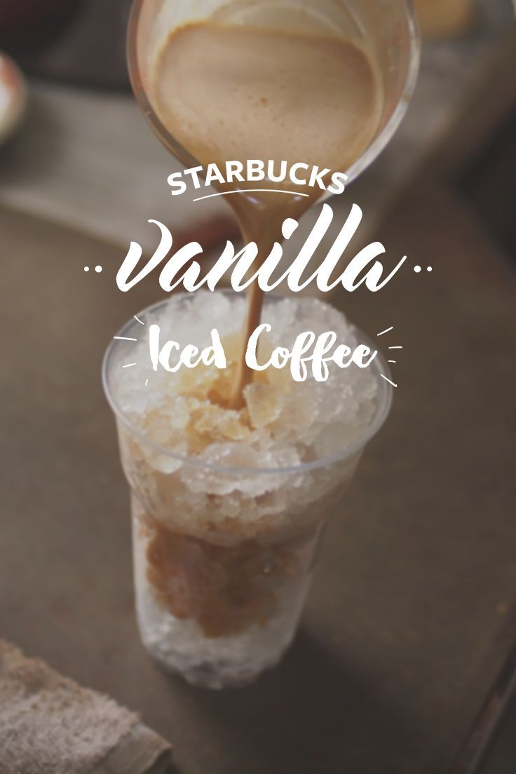 Starbucks Copycat Vanilla Iced Coffee! Delicious and quick to make!