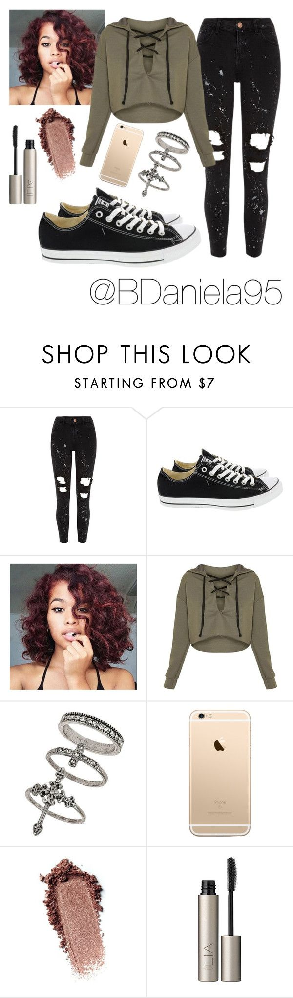 """""""Untitled #211"""" by daniela95140 on Polyvore featuring River Island, Converse, Miss Selfridge and Ilia"""