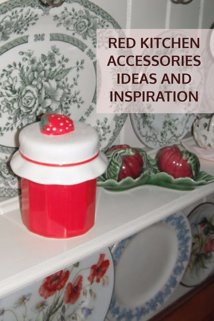 Red Kitchen Accessories Kitchens Pinterest And