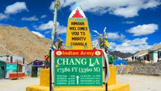 The Chang La is a high mountain pass in Ladakh, India. It is claimed to be the second highest motorable road in the world. Chang La is approached from Leh via Kharu and Sekti village by an asphalt road.