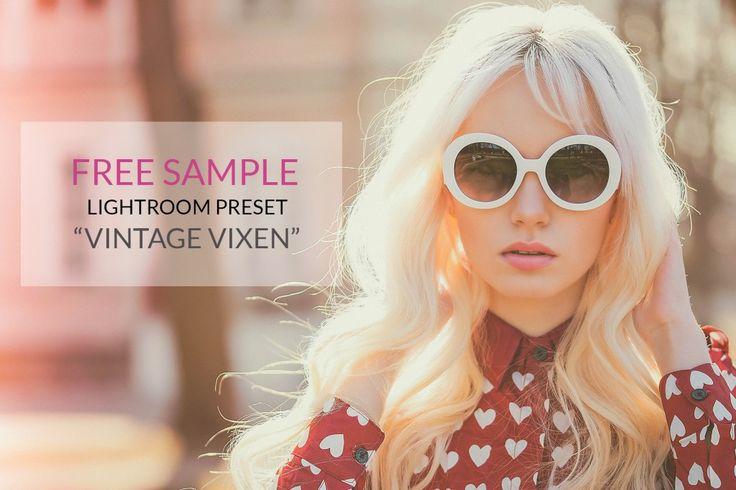 """Free Lightroom Preset """"Vintage Vixen""""  - Chic Lightroom Presets & Brushes"""