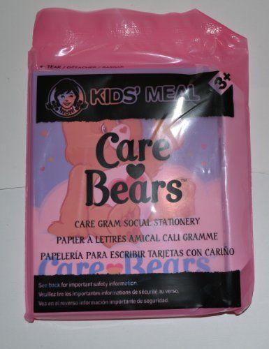 Wendys Kids Meal Care Bears Care Gram Social Stationery From 2014 @ niftywarehouse.com #NiftyWarehouse #CareBears #80s #ClassicCartoons #Cartoon #Show #CareBear