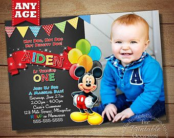 MICKEY MOUSE INVITATIONS Mickey Mouse Birthday Birthday