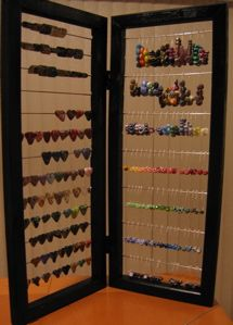 How to make a bead display for $10 or less.... - Lampwork Etc. hinged picture frames